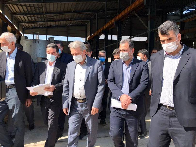 بازدید وزیر صمت از شرکت فولاد زاگرس ایوان