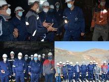 بازدید مدیر عامل شرکت تهیه و تولید مواد معدنی ایران  و هیات همراه  از مجتمع معدنی انگوران